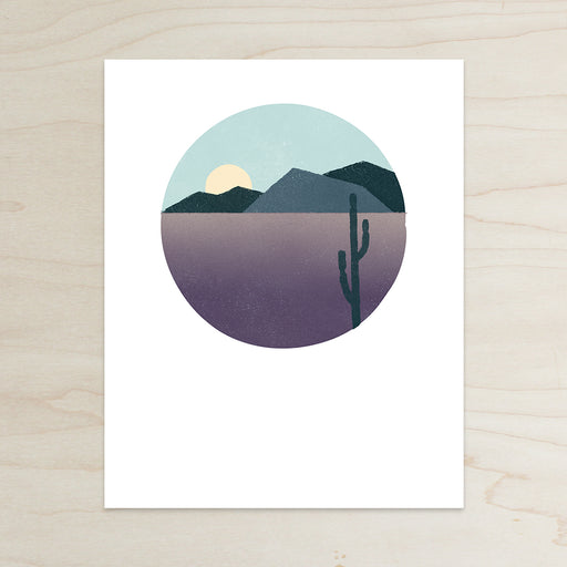 Desert Print, Desert Sunset Print, Desert Print, Cactus Print, Katey Mangels, Cold Desert, Archival Print, Desert Mountians Print, Half and a Third, Half and a Third Print, Kate Mangels, Katey Mangels