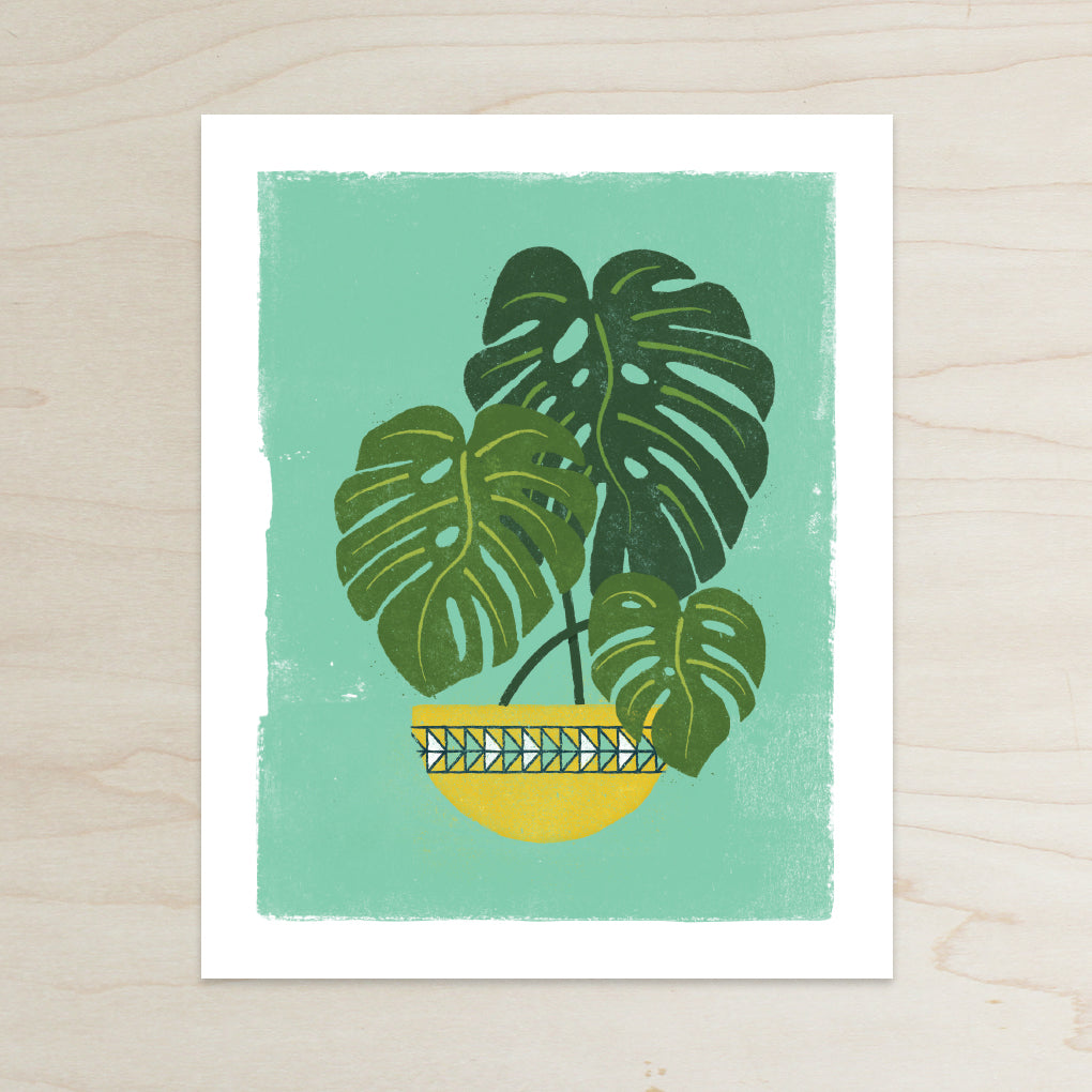 Katey Mangels, Half and a Third, Monstera Print