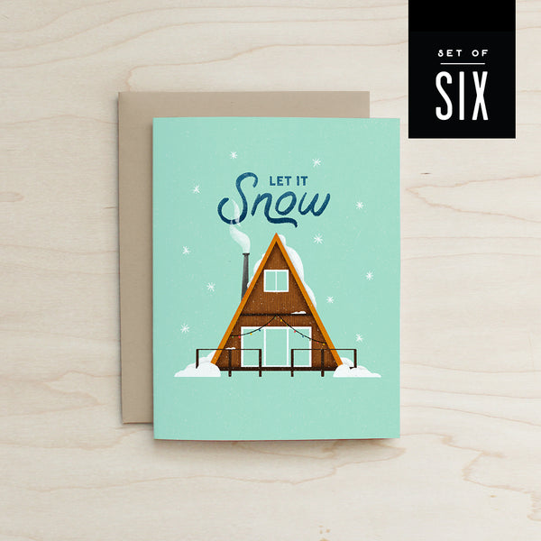 A Frame Let it Snow 6 Card Box Set