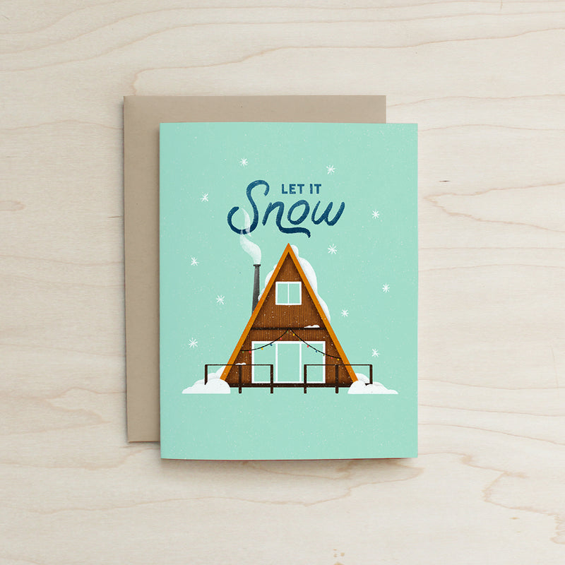 A Frame Let it Snow Card