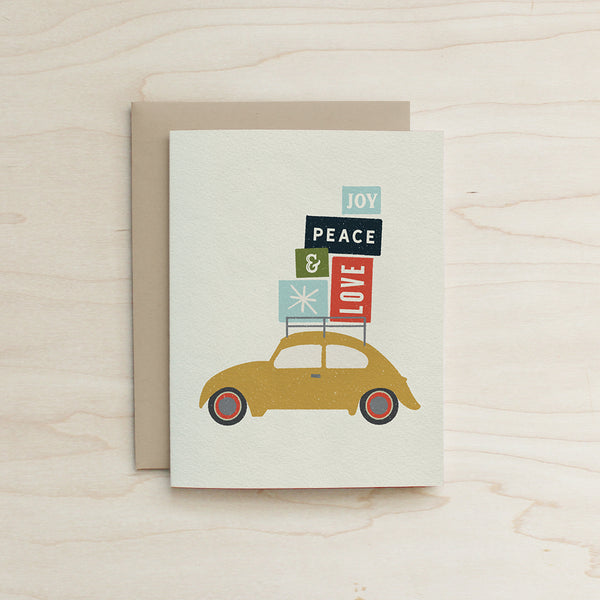 Half and a Third, Bug Card, Beetle Card, Holiday Card, Katey Mangels