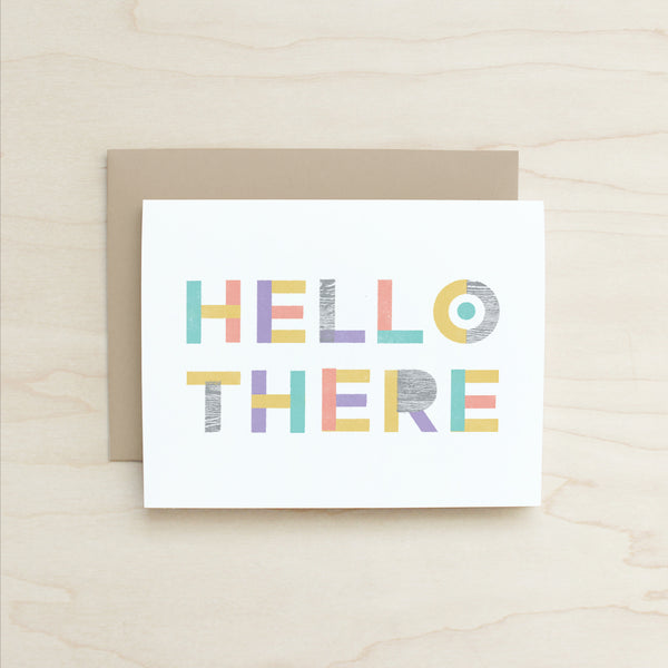 Half and a Third, Katey Mangels, Greeting Card, Hello There Card