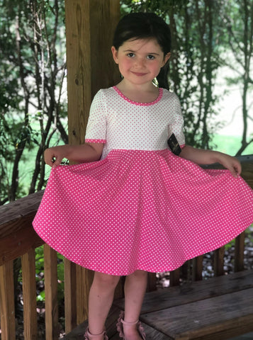 Pink Dot Twirl Dress