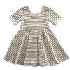 Image of Gold Stripe Twirl Dress
