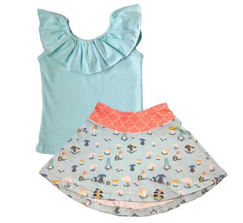 Mushroom Skirt and Tank Top SET