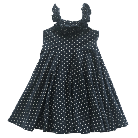 Navy Dot Twirl Dress
