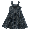 Image of Navy Dot Twirl Dress