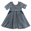 Image of Navy Stripe Twirl Dress