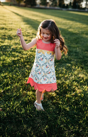 Bee Charmer Scallop Dress
