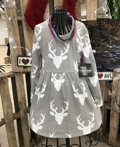 Dress - Deer Head Dress - Gray
