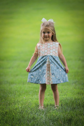 Floral Honeycomb Peekaboo Dress