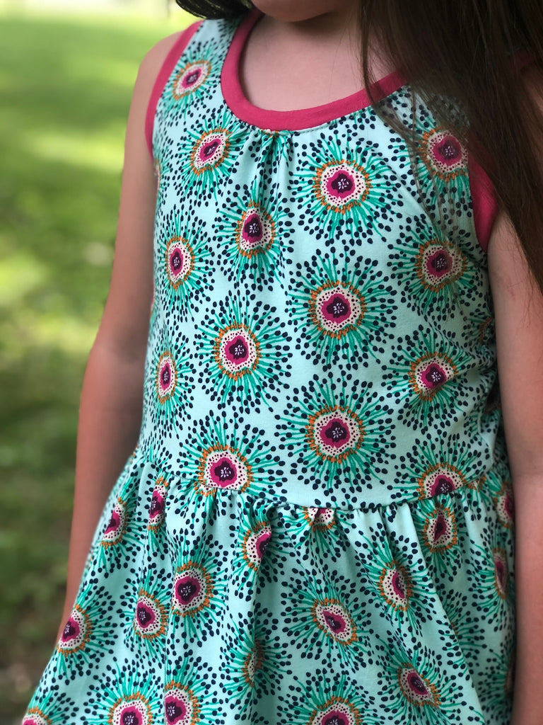 Bright Spiney Flower Tank Dress