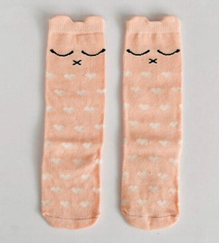 Knee-High Cat Love Socks