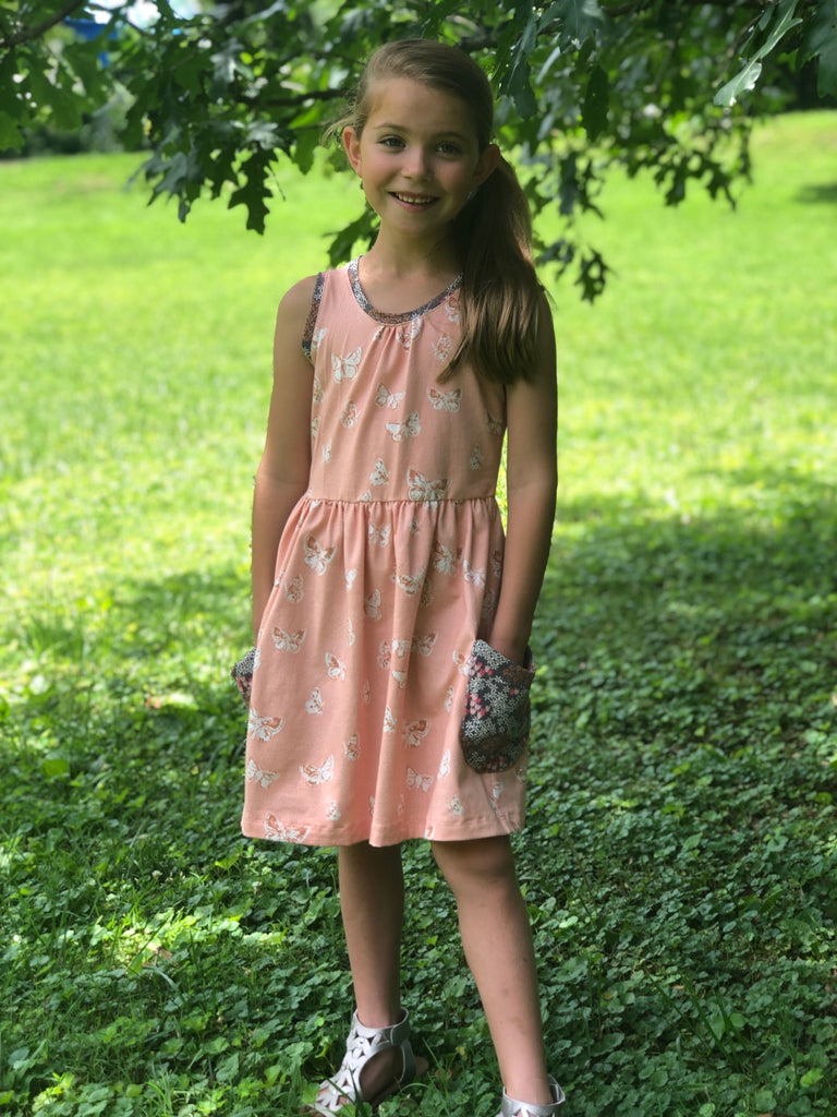 Butterfly Blush Tank Dress