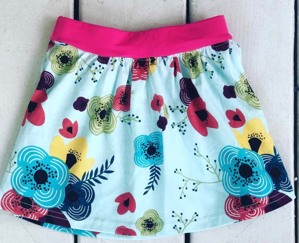 Happy Floral Skirt