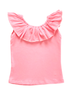 Image of Ruffle Neck Tank - Light Pink