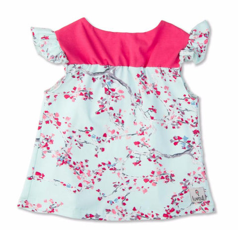 Shirt - Blushing Blooms Flutter Top