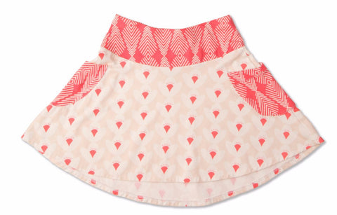 Flight Feather Tulip Pocket Skirt