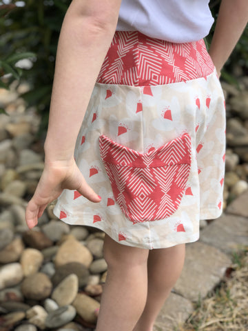 Skirt - Flight Feather Tulip Pocket Skirt