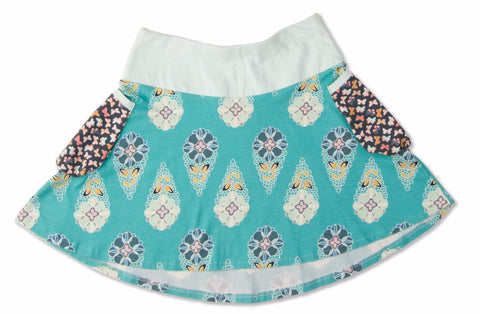 Showers and Flowers Bubble Pocket Skirt