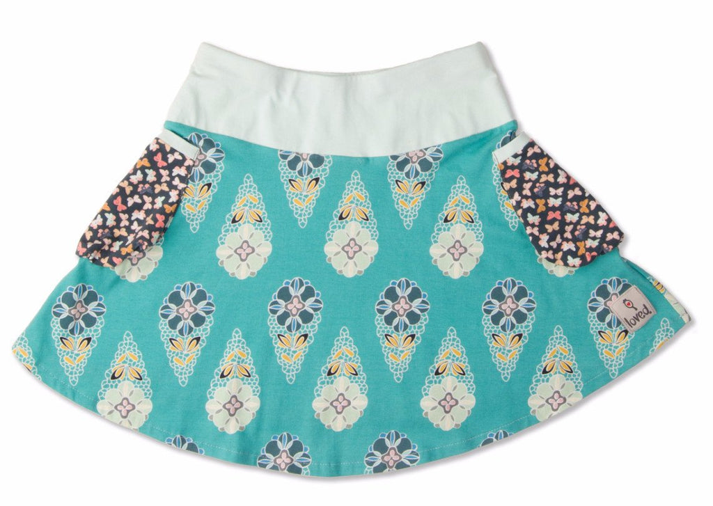 Skirt - Showers And Flowers Bubble Pocket Skirt
