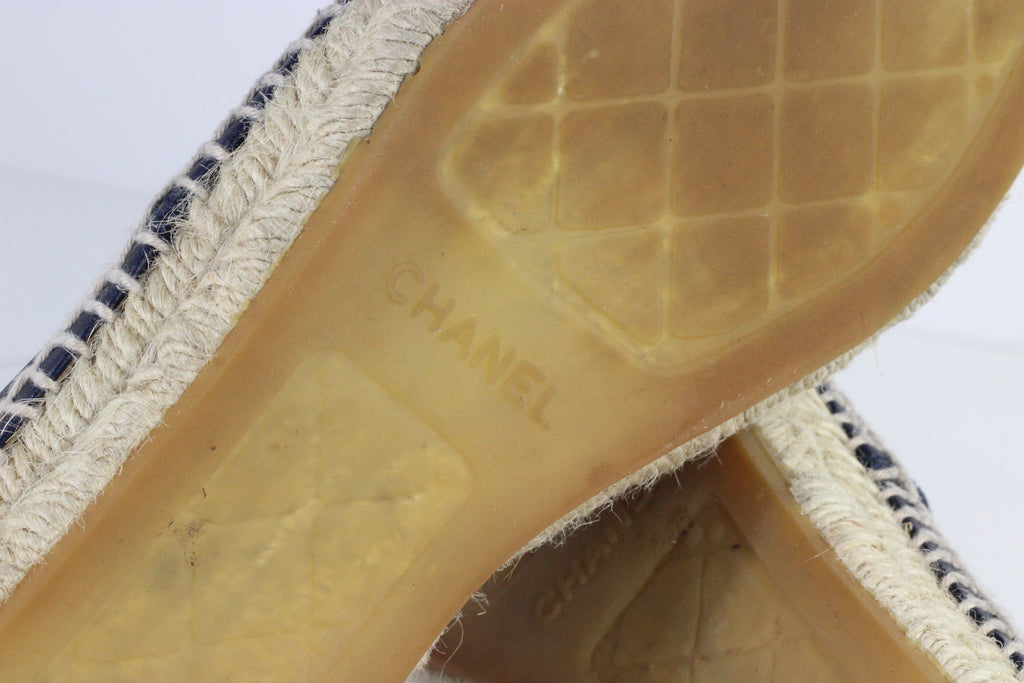 CHANEL LEATHER ESPADRILLES