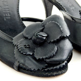 Pre-owned Black Chanel Kitten Heels
