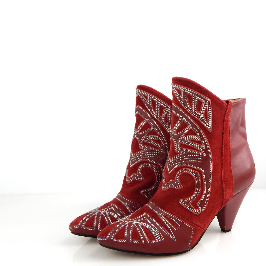 Isabel Marant Navaho Red Suede Boots