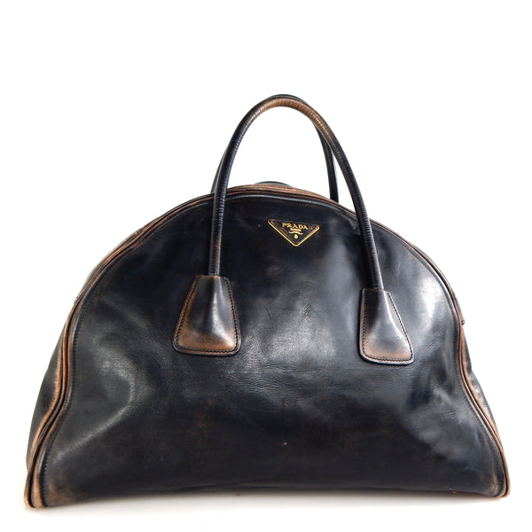 Prada Vintage Calf Leather Tote Bag