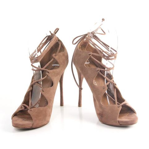 Alaia Brown Suede Pumps