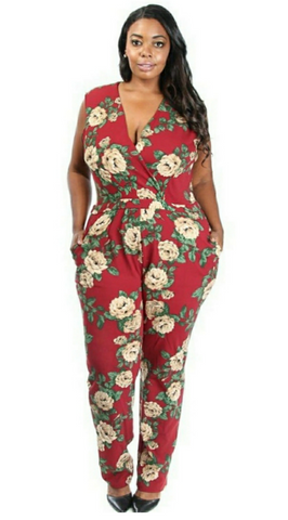 Floral Plus Size Jumpsuit