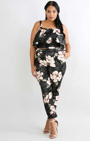 Posh Floral Pants Set