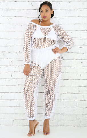 Tease Net Cover Up Jumpsuit