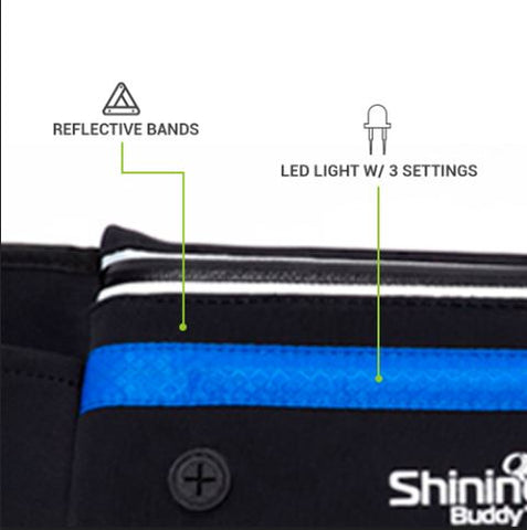 Reflective Running Belt With LED