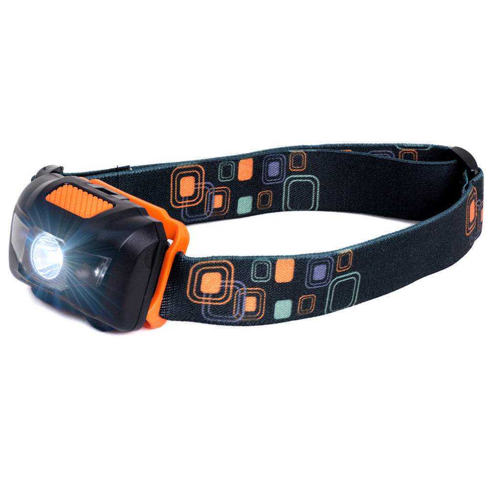 LED Headlamp - Black/Orange (HL-101)