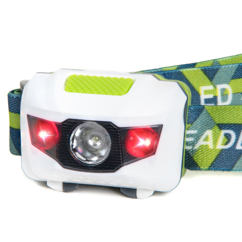 LED Headlamp - White/Green (HL-101)