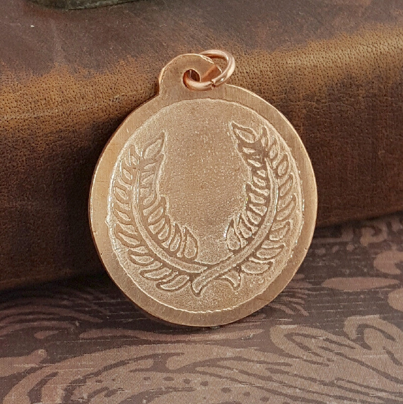 SCA Laurel Badge Copper Pendant 1 - Sinclair Jewelry - 1