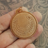 SCA Laurel Badge Copper Pendant 1 - Sinclair Jewelry - 3