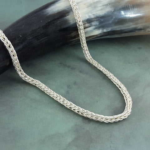 Silver Doubled Classical Chain Necklace - Sinclair Jewelry - 1
