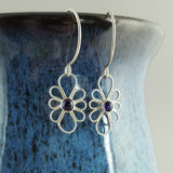 Sterling Silver and Amethyst Filigree Earrings - Sinclair Jewelry - 2