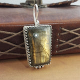 Labradorite Crown Pendant