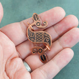 Antiqued Copper Double Dragon Pins - Sinclair Jewelry - 4