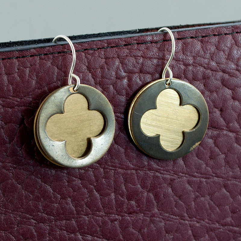 Cathedral Earrings - Dark Brass Window - Sinclair Jewelry - 2