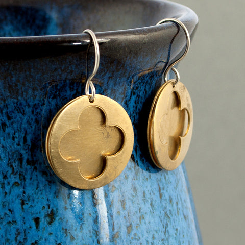 Cathedral Earrings - Brass - Sinclair Jewelry - 2