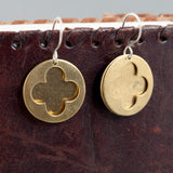 Cathedral Earrings - Textured Brass - Sinclair Jewelry - 4