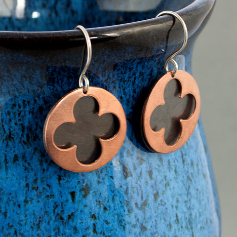 Gothic Medieval Copper Earrings - Sinclair Jewelry - 1