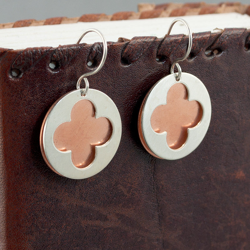 Cathedral Earrings - Silver & Copper - Sinclair Jewelry - 3