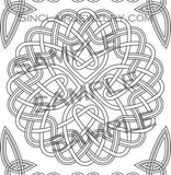 Celtic Knots Art Adult Coloring Book 3