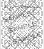 Celtic Knots Art Adult Coloring Book 4