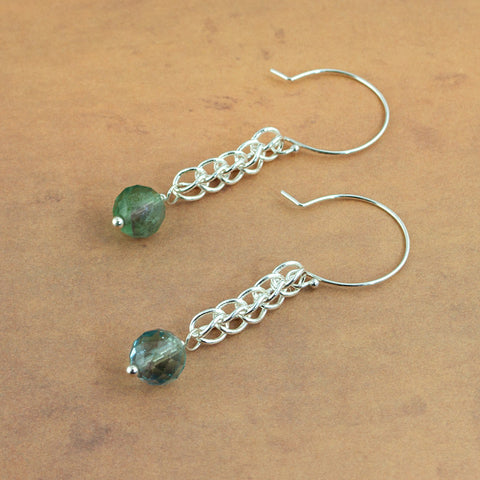 Vineyard Fluroite and Silver Earrings - Sinclair Jewelry - 3